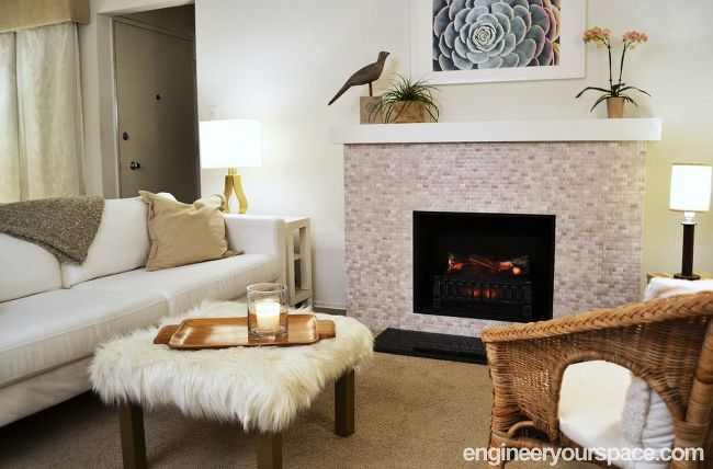 DIY Faux Fireplace with mantel